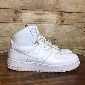 NIKE AIRFORCE 1 HIGH TOPS EUC WHITE SIZE 10.5